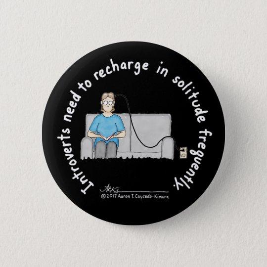 Introvert Basics: Recharge Black Button