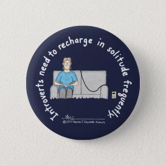 Introvert Basics: Recharge Dark Blue Button