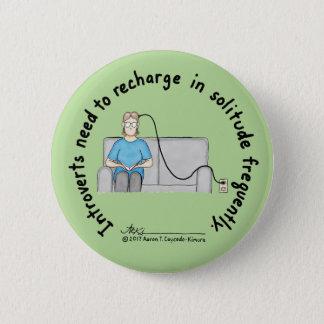 Introvert Basics: Recharge Light Green Button
