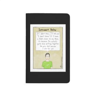 Introvert Delay Black Pocket Journal