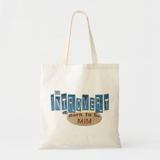 Introvert Tote Canvas Bag