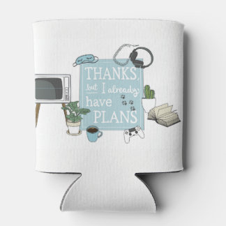 Introvert's Plan Coozy Can Cooler