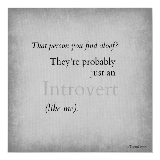 Introverts! Poster