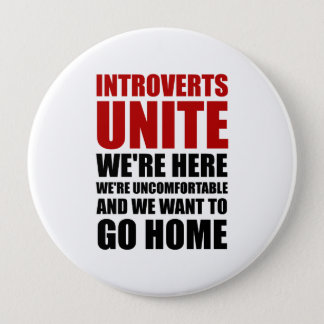 Introverts Unite 10 Cm Round Badge