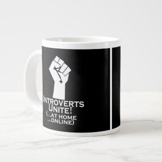 Introverts Unite, At Home, Online, Funny Large Coffee Mug