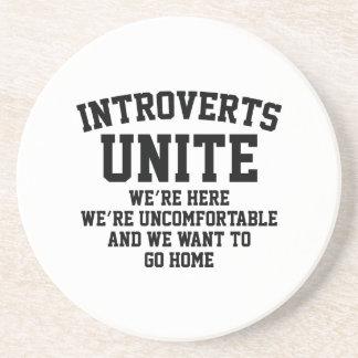 Introverts Unite Beverage Coasters