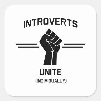 Introverts Unite (Individually) Square Sticker