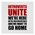 Introverts Unite Poster