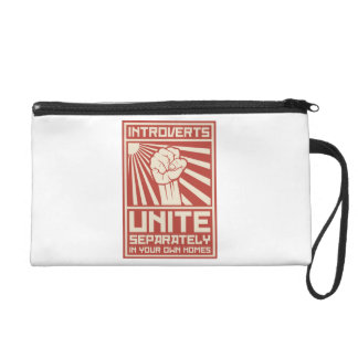 Introverts Unite Separately In Your Own Homes Wristlet Clutches