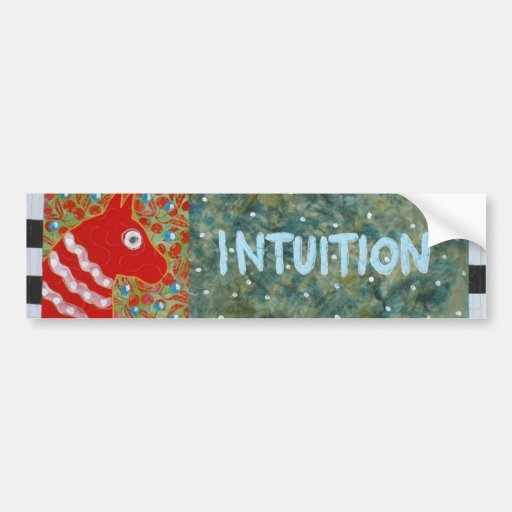 Intuition Bumper Stickers