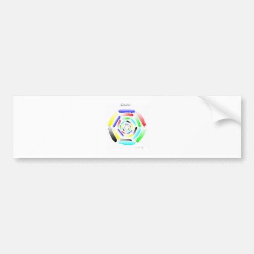 Intuition Mandala Bumper Stickers
