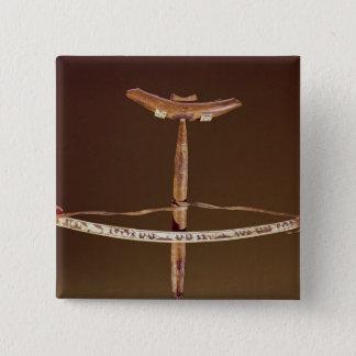Inuit bow drill 15 cm square badge