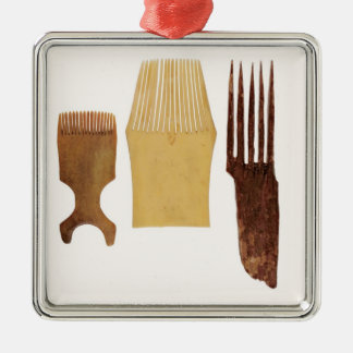 Inuit combs, from Northwest American coast Christmas Ornament