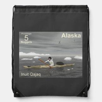 Inuit Kayak Drawstring Bag