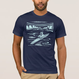 Inuit kayak graphic design T-Shirt
