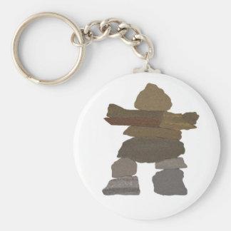 Inukshuk Basic Round Button Key Ring