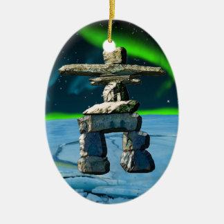 Inukshuk Native American Spirit Stones Christmas Ornament