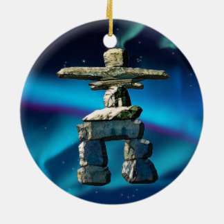 Inukshuk Native American Spirit Stones Christmas Ornament