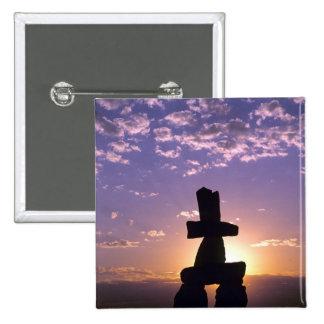 Inukshuk Northwest Territories, Canada 15 Cm Square Badge