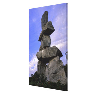 Inukshuk, Northwest Territories, Canada Gallery Wrapped Canvas