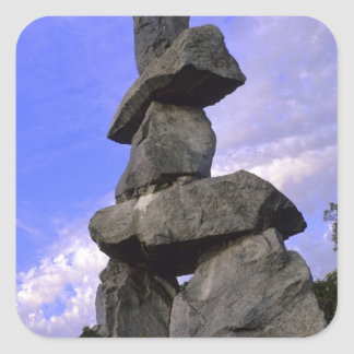 Inukshuk, Northwest Territories, Canada Square Sticker
