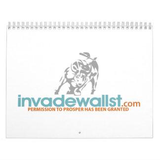 Invade Wall Street Calendar