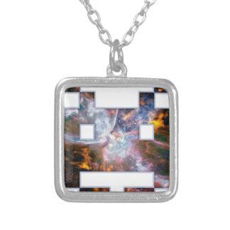 Invader Square Pendant Necklace
