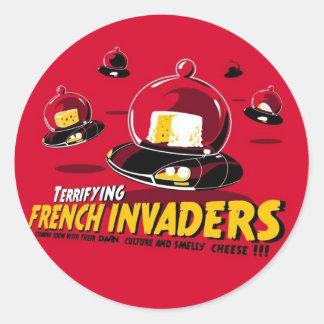 Invaders Classic Round Sticker
