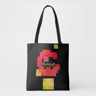Invaders vs Tetris Tote Bag