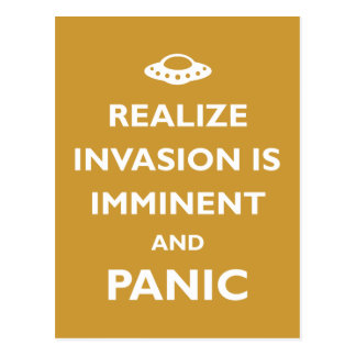 Invasion is Imminent Postcard