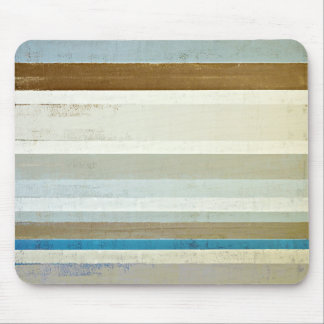 'Invent' Blue and Beige Abstract Art Mouse Pad
