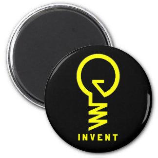 ''Invent'' Lightbulb Magnet