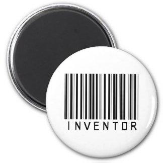 Inventor Bar Code 6 Cm Round Magnet