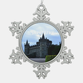 Inveraray Castle in Argyll Pewter Snowflake Decoration