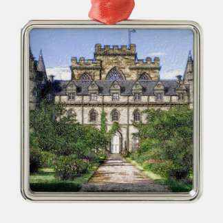 Inveraray Castle Silver-Colored Square Decoration