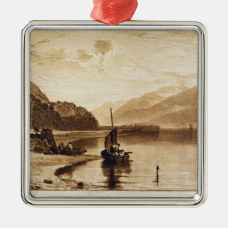 Inverary Pier, 1859-61 (engraving) Silver-Colored Square Decoration