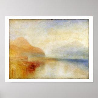 Inverary Pier, Loch Fyne, Morning, c.1840-50 (oil Poster