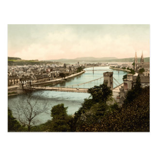 Inverness from the Castle, Scotland Postcard