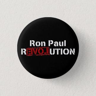 inverse ron paul revolution 3 cm round badge