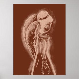 Inverted Angel in Copper Tones II Print