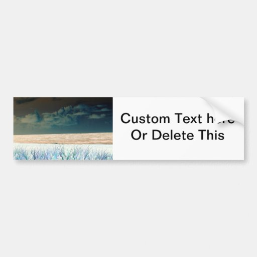 inverted beach sky neat abstract florida shore bumper sticker
