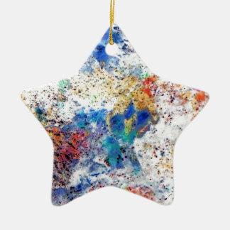 Inverted Ceramic Star Decoration