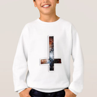 Inverted Cross Galaxy Cosmic Universe Sweatshirt