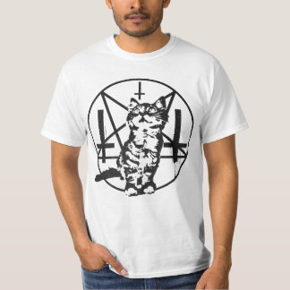 Inverted Cross & Pentacle Kitten T-Shirt