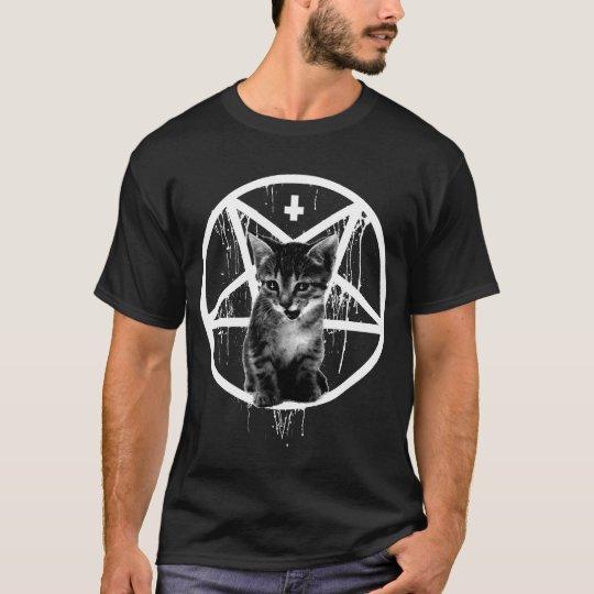 Inverted Cross & Pentagram Cat T-shirt