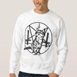 Inverted Cross & Pentagram Kitten Sweatshirt