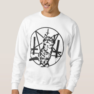 Inverted Cross & Pentagram Kitten Sweatshirt
