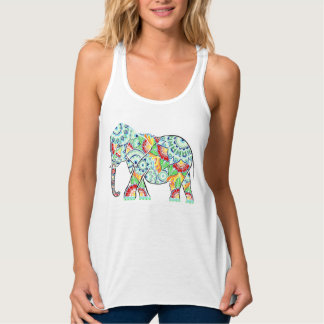 Inverted Elephant Coloured Tank Top