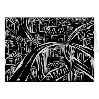 Inverted Encircled Town Greeting Card