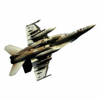 Inverted F-18 Hornet Cutout Standing Photo Sculpture